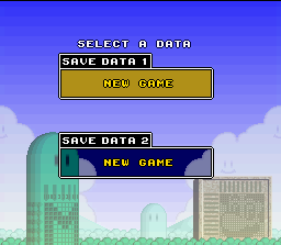 Mario's Super Picross SNES Starting a new file