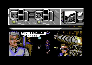 Thunderbirds Commodore 64 Or not, as the case may be - it hung on here on my emulator