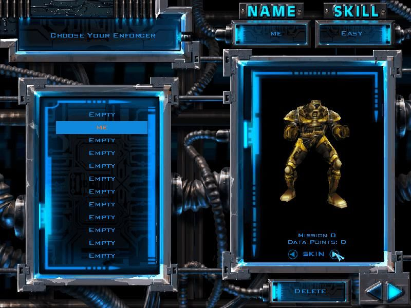 X-COM: Enforcer Windows Enforcer Choice Screen