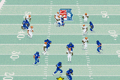Madden NFL 2003 Game Boy Advance The Madden QB tries to run the ball