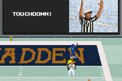 Madden NFL 2003 Game Boy Advance Touchdown!
