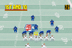 Madden NFL 2003 Game Boy Advance The Browns and Madden All Stars line up.