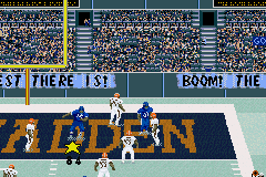 Madden NFL 2003 Game Boy Advance Endzone dance