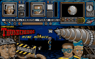 Thunderbirds Atari ST Equipment selection