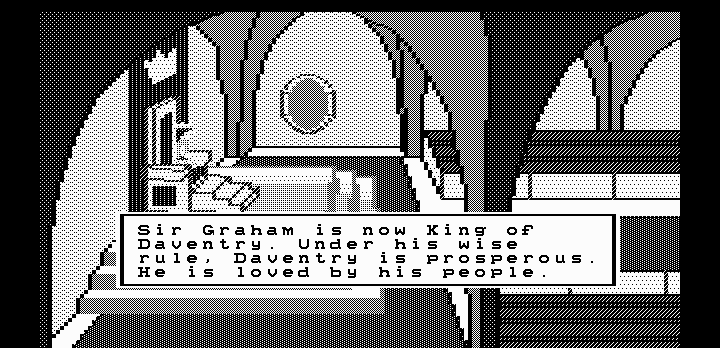 King's Quest II: Romancing the Throne DOS Intro (Hercules graphics)