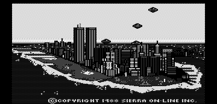 Manhunter: New York DOS Title screen (Hercules graphics)