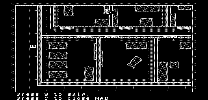 Manhunter: New York DOS Tracking the suspect (Hercules graphics)