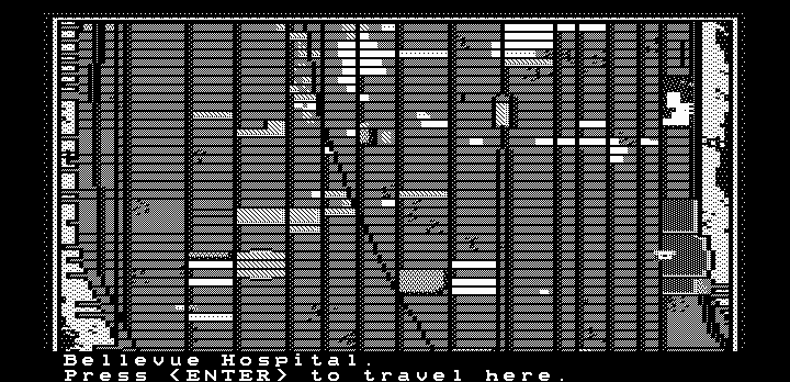 Manhunter: New York DOS Travelling in Manhattan (Hercules graphics)