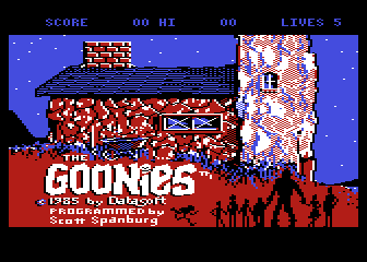 The Goonies Atari 8-bit The title screen