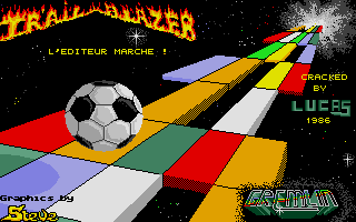 Trailblazer Atari ST Title screen