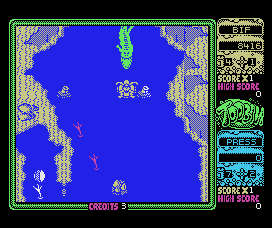 Toobin' MSX Hunted by a crocodile
