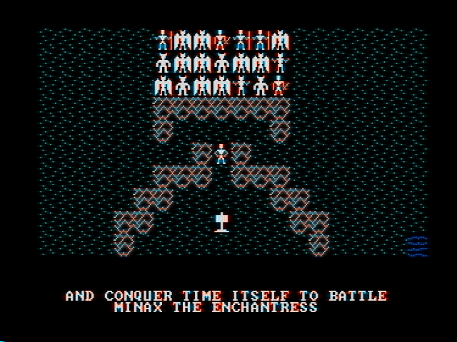 Ultima II: The Revenge of the Enchantress... DOS Example of a rather hard fight to win. (CGA with composite monitor)