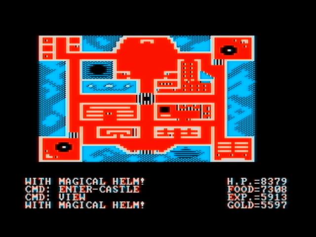 Ultima II: The Revenge of the Enchantress... DOS See a map of your surroundings (CGA with composite monitor)