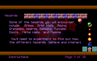 Heartlight DOS Information about in-game hazards