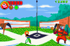 Disney's Kim Possible: Revenge of Monkey Fist Game Boy Advance Checking out the outer section of the school