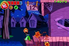 Disney's Kim Possible: Revenge of Monkey Fist Game Boy Advance Kim blasts the door open with her lipstick laser
