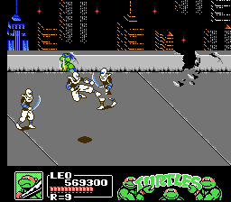 Teenage Mutant Ninja Turtles III: The Manhattan Project NES Beware the White Ninja!