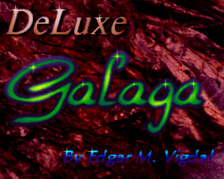 Deluxe Galaga 2.x Amiga AGA title screen