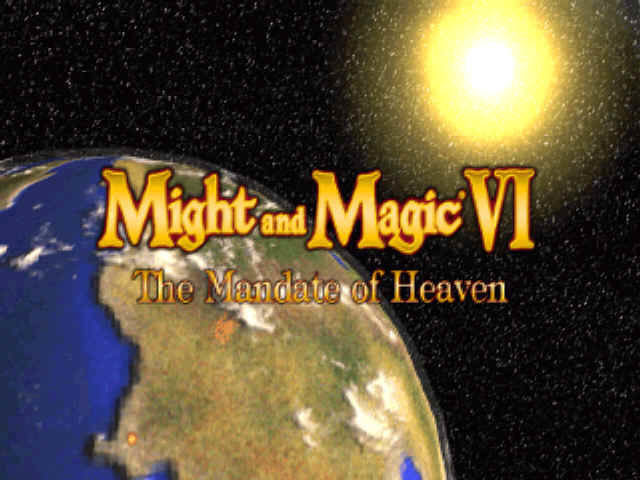 Might and Magic VI: The Mandate of Heaven Windows Title screen