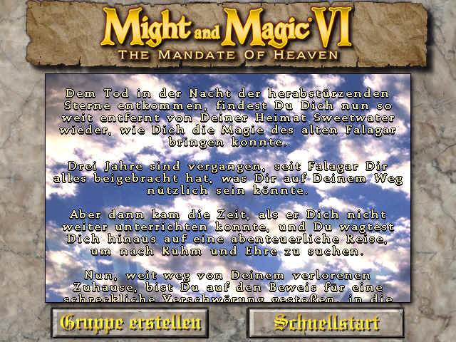 Might and Magic VI: The Mandate of Heaven Windows The story, bla-bla-bla...