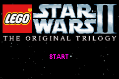 LEGO Star Wars II: The Original Trilogy Game Boy Advance Title screen