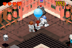 LEGO Star Wars II: The Original Trilogy Game Boy Advance Leia learning about the Death Star