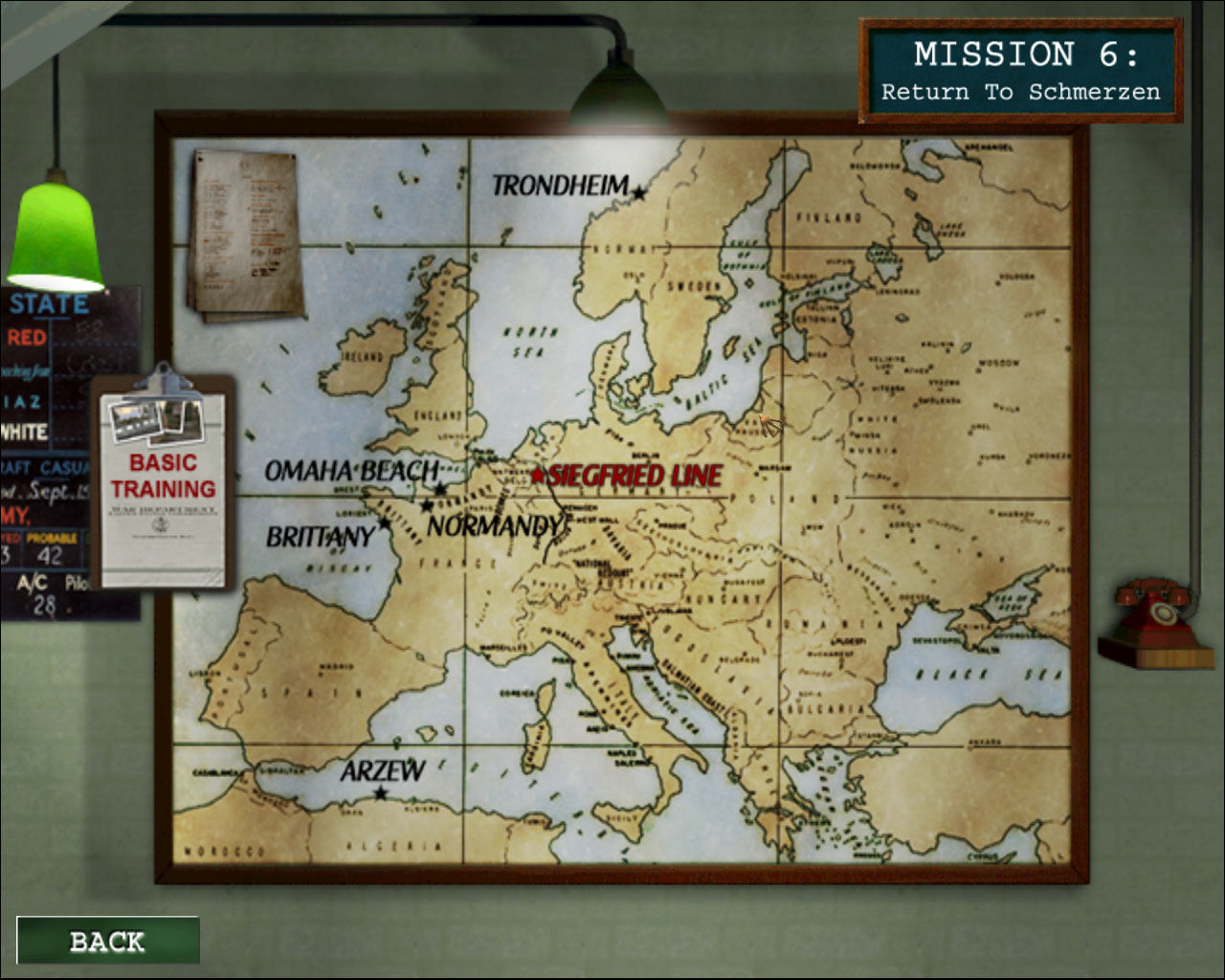 Medal of Honor: Allied Assault Windows Campaign map