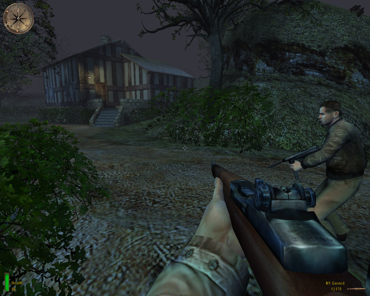 Medal of Honor: Allied Assault Windows Doing some co-operative Nazi hunting with a rescued pilot.