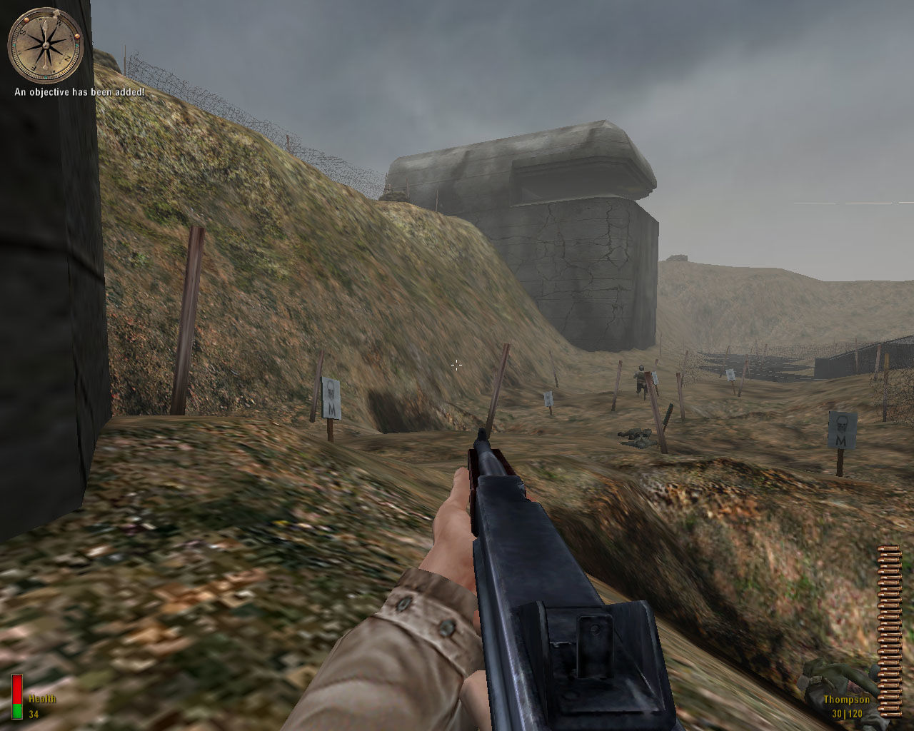 Medal of Honor: Allied Assault Windows Looks like I have to break the Atlantic Wall myself.