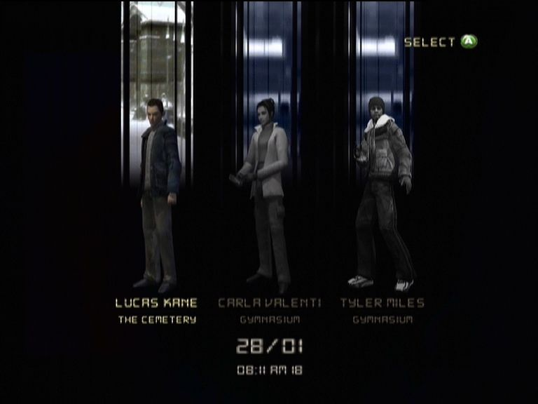Indigo Prophecy Xbox Some levels allow you to choose witch character you wish to play as