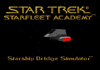 Star Trek: Starfleet Academy - Starship Bridge Simulator SEGA 32X Title Screen