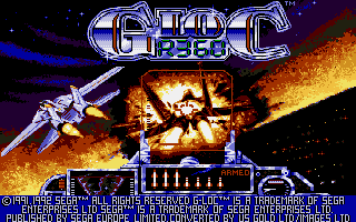 G-Loc Air Battle Atari ST Loading screen