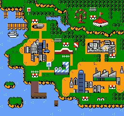 Yo! Noid NES Map screen