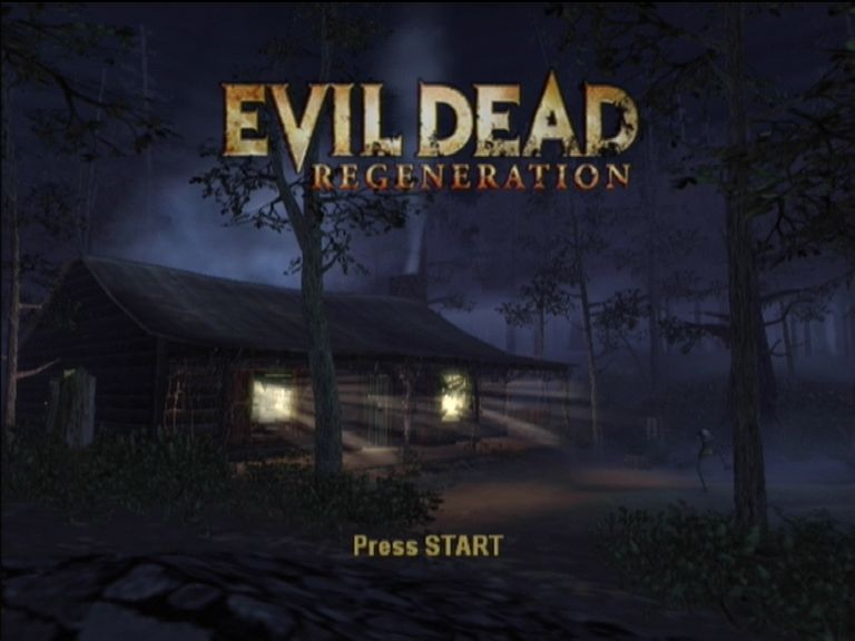 Evil Dead: Regeneration Xbox The shack is back in the title screen!