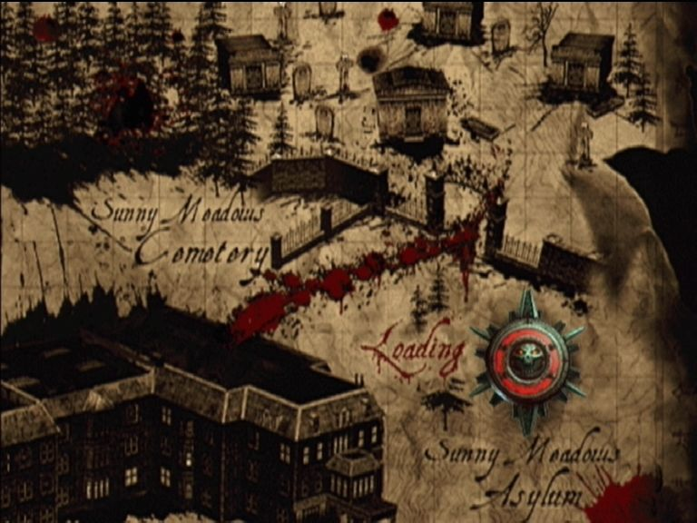 Evil Dead: Regeneration Xbox Loading screens show you the way to go on the map