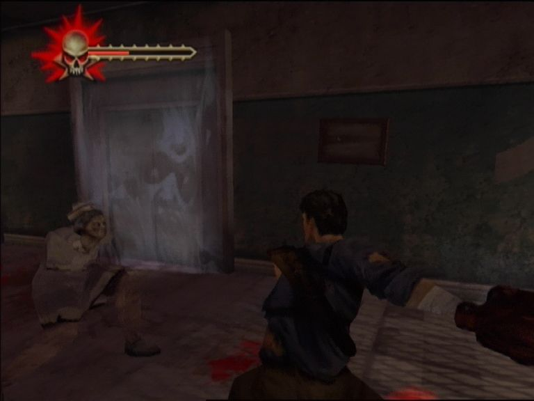 Evil Dead: Regeneration Xbox Going for a decapitation with the chainsaw