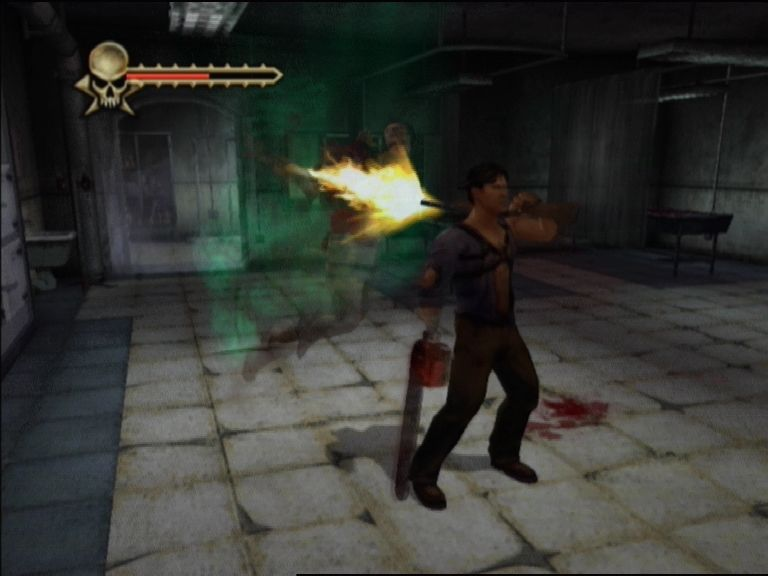 Evil Dead: Regeneration Xbox Ash can also use the shotgun to finish off deadites