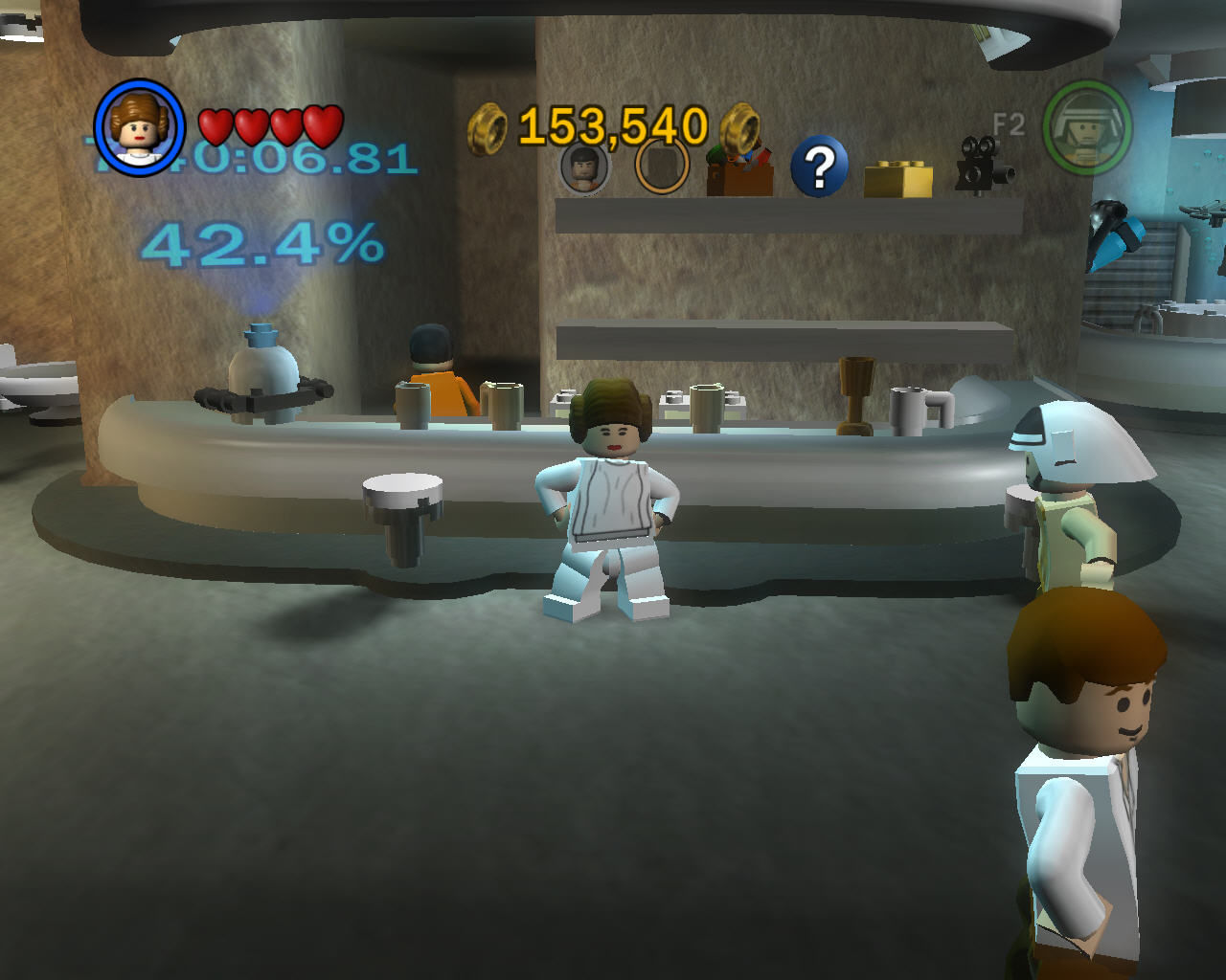 LEGO Star Wars II: The Original Trilogy Windows Mos Eisley Cantina. Here, you can buy hints, characters and special features which can help you through the game.