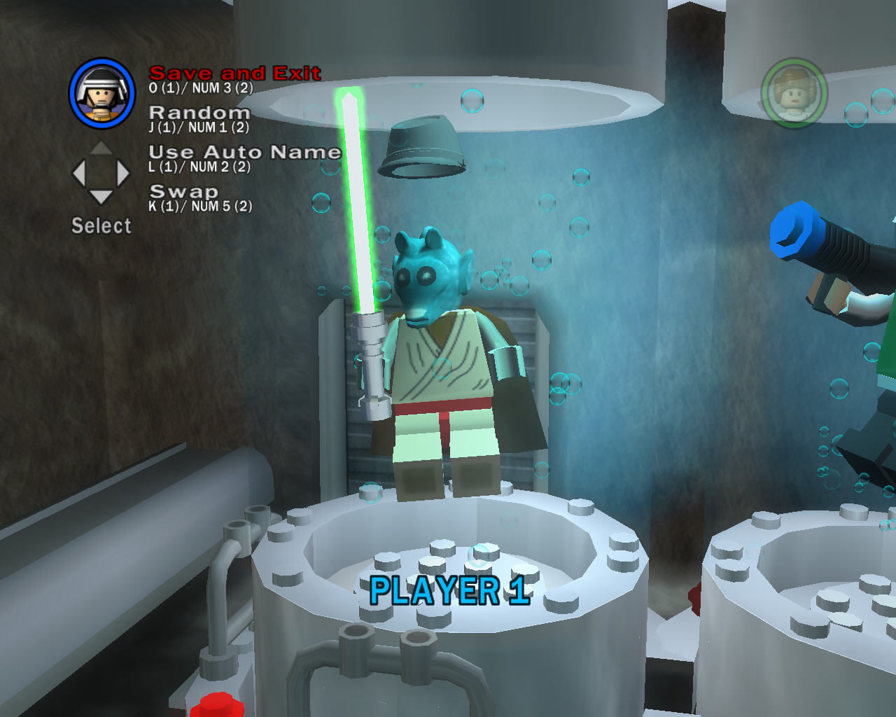 LEGO Star Wars II: The Original Trilogy Windows The game allows you to build your own custom character.