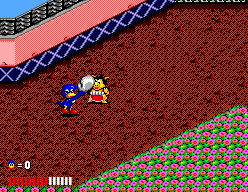 "Dynamite Düx SEGA Master System Paraphrasing another ""Duke"", ""that's gonna leave a mark""!"