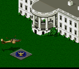 Jungle Strike SNES The White House