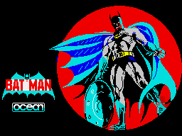 Batman ZX Spectrum Loading screen