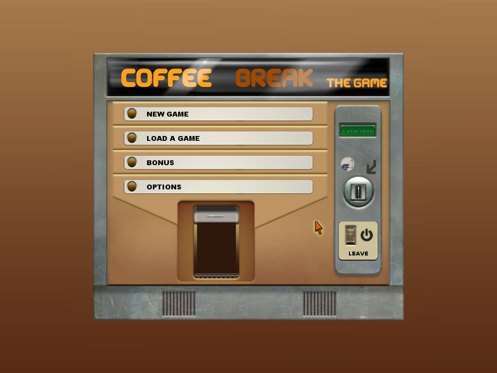 Coffee Break Windows Main Menu