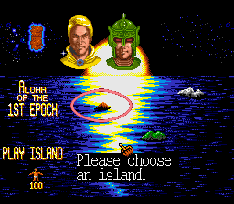 Mega lo Mania SNES Choose a island
