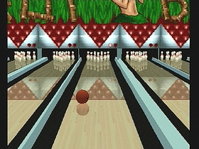 Ten Pin Alley PlayStation Ball rolling on lane
