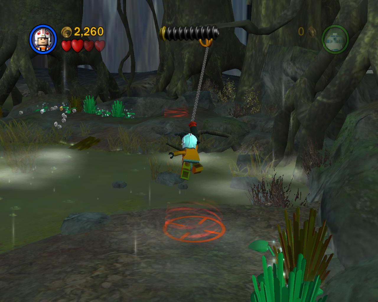 LEGO Star Wars II: The Original Trilogy Windows Blaster characters can use grappling hooks.