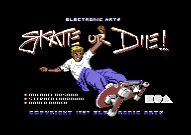 Skate or Die Commodore 64 Loading screen