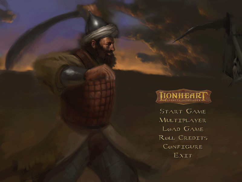 Lionheart: Legacy of the Crusader Windows Startup Screen