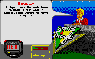 Sporting Triangles Atari ST Clue: The Official Blackpool FC game wouldn't be a hit on the Spectrum