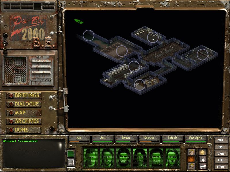 Fallout Tactics: Brotherhood of Steel  Windows The map screen / The BOS Bunker